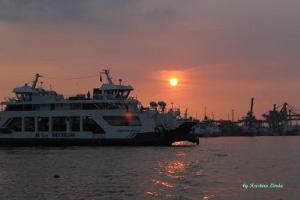 Pontianak Port at Kapuas River Bank: Photo by Kristina Linda