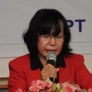 Dr. Regina, delivering an opening speech as The Chair of the Steering Committee